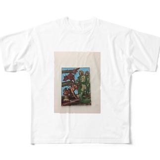 ミュンヘン絵画Tシャツ Full graphic T-shirts