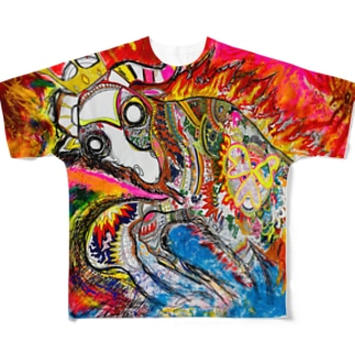 クリティカルヒット Full graphic T-shirts