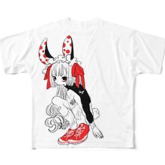 ぴょんぴょん Full graphic T-shirts