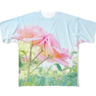 ばらの花 Full graphic T-shirts