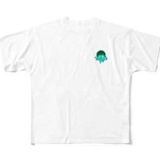 ワンポイントぞんびちゃん Full graphic T-shirts