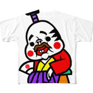 殿様フックちゃん Full graphic T-shirts