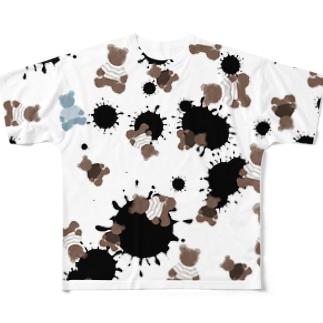 milk choco kuma Full graphic T-shirts