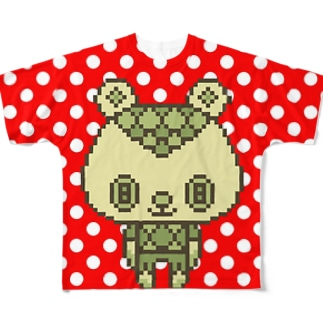 ColorBear(バックが白地ドット柄) Full graphic T-shirts