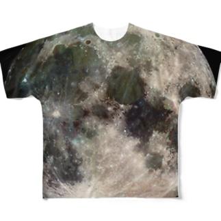 """the MOON - 愛と幸運の星"" Full graphic T-shirts"