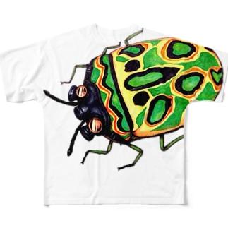 ガスマスクカメムシ Full graphic T-shirts