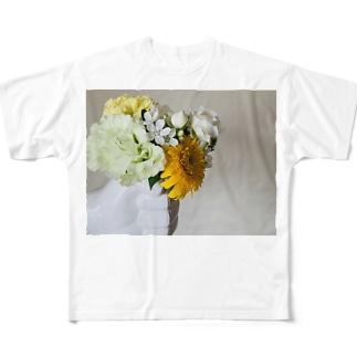 片手に花束 Full graphic T-shirts