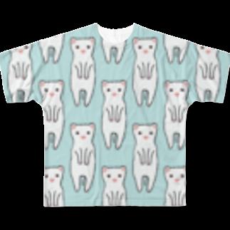 ®︎ik° 絵とかイラスト のフェレットさん Full graphic T-shirts