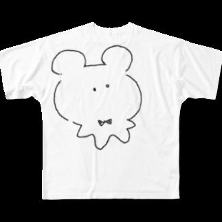 とり。の虚無くま Full graphic T-shirts