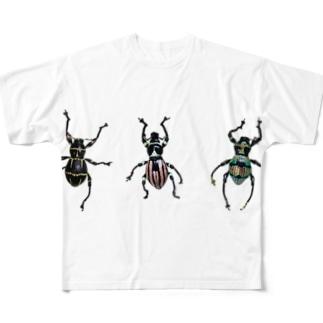 美麗なカタゾウ3種 Full graphic T-shirts