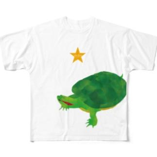 Love Turtle TypeA BIG Full graphic T-shirts