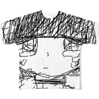 泣強子 Full graphic T-shirts
