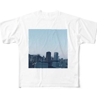 墓参り Full graphic T-shirts