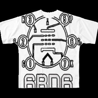 アズペイントの6BD6 Full graphic T-shirts