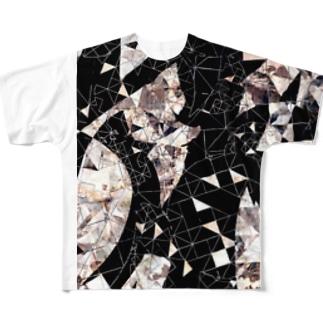 Moon.Tシャツ (ゴールド) Full graphic T-shirts