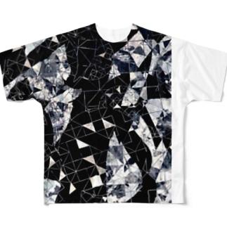 Moon.Tシャツ (シルバー) Full graphic T-shirts