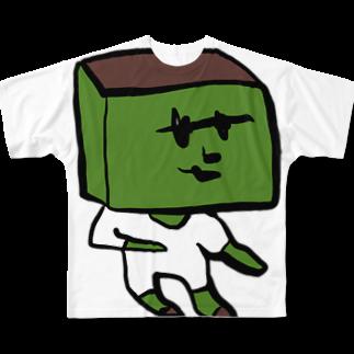 希鳳の抹茶のカステラ Full graphic T-shirts
