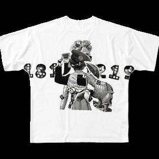 Ryo_handmadeのpustfutur Full graphic T-shirts