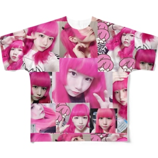 自撮りpink Full graphic T-shirts