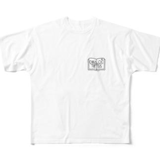 QUALCIC+TETRAロゴ Full graphic T-shirts