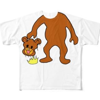 どっかで見たクマのバスケ Full graphic T-shirts