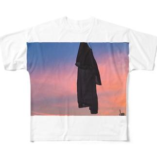 夕景 Full graphic T-shirts