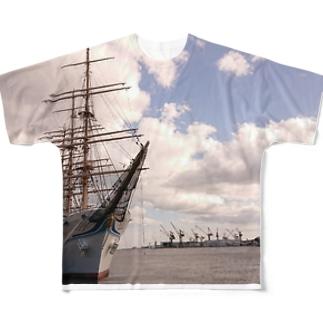海王丸 Full graphic T-shirts