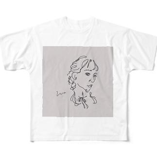アンニュイgirl Full graphic T-shirts