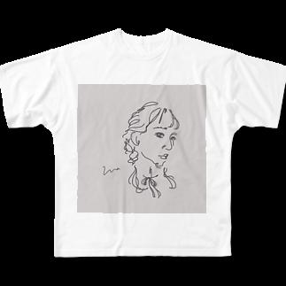 ____m.styleのアンニュイgirl Full graphic T-shirts