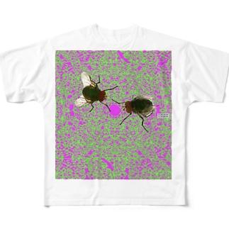 中毒バエ Full graphic T-shirts