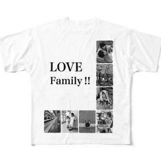 usako@まめのよめのLOVE Family Full graphic T-shirts