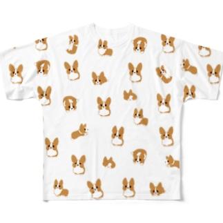 コーギーがたくさん Full graphic T-shirts