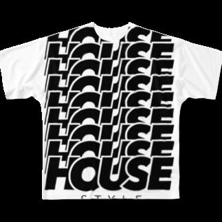 あかそんshop のHOUSEHOUSEHOUSE Full graphic T-shirts
