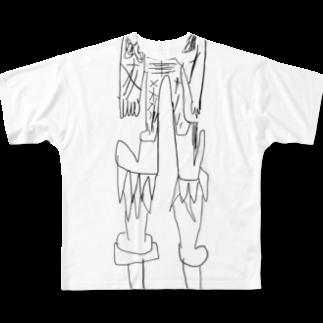 覇嶋卿士朗猿手品サンダークリムゾンじアまリーズ血褐色男爵ゾグザグゾクザギズグゾズゾノボラグラルゴンズのストロングクツクツ人造人間1500号 Full graphic T-shirts