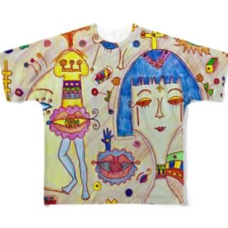 クレオパトラ Full graphic T-shirts