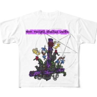 棄てられた信仰心(ホワイト) Full graphic T-shirts
