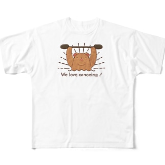 We love canoeing ! Full graphic T-shirts