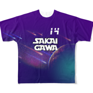 tottoの【販売済み】境川フリー/14番 Full graphic T-shirts