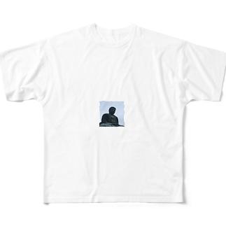 大仏さま Full graphic T-shirts