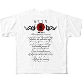 因達羅 INDARA Full graphic T-shirts