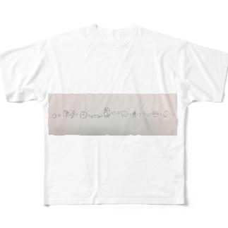 ゆるゆる大名行列 Full graphic T-shirts