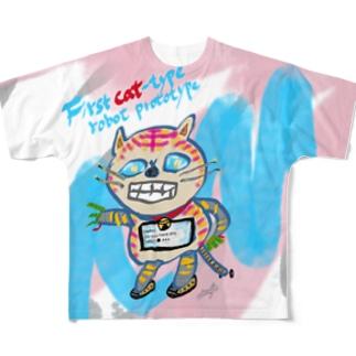 フルA【First cat-type robot prototype】 Full graphic T-shirts