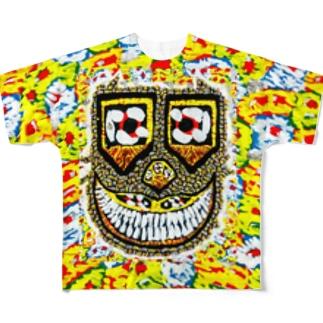 横岑竜之(よこみねたつゆき)のHappyMonster♥♥♥ Full graphic T-shirts