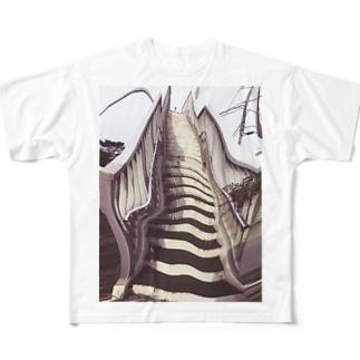 歩道橋 Full graphic T-shirts