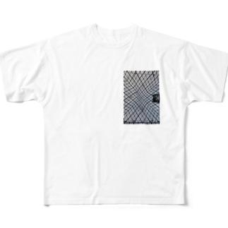 モダン建築 Full graphic T-shirts