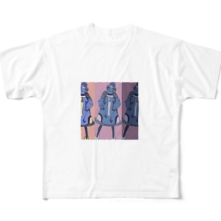 女は強ぇな Full graphic T-shirts