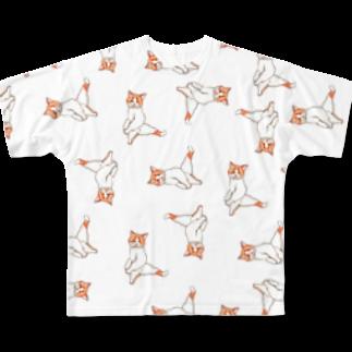 ぽぽこの箱のにゃんグラム XL Full graphic T-shirts