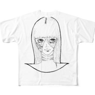 ハロウィンゾンビ女その2 Full graphic T-shirts