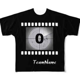 【受注制作】スポーツユニフォーム/ムービーカウント&エンドロール Full graphic T-shirts
