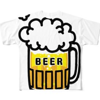 ビール!ビール!!ビール!!! Full graphic T-shirts
